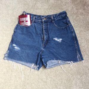 Pants - Distressed jean shorts✨